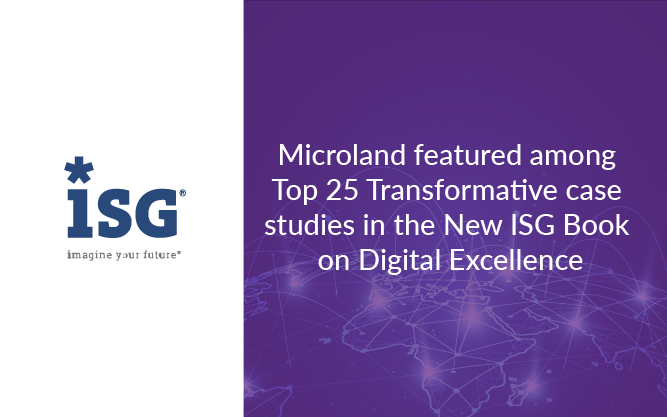 ISG Selects 25 Digital Case Studies, including Microland's, for 2020 Book